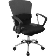 Contemporary Two Tone Adjustable Mid Back Office Chair