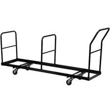 "39.25"" x 19.25"" x 80.75"" Vertical Storage Folding Chair Dolly"