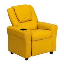 Contemporary Kid's Recliner with Cup Holder