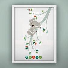 Print Sleepy Koala Unframed Art