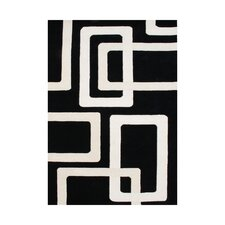 New Zealand Handmade Black Area Rug