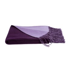 Reversible Wool Blend Throw