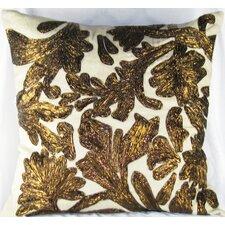 Lurex Floral Linen Throw Pillow