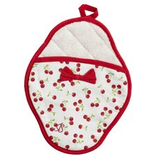 Reto Cherries Scalloped Pot Mitt