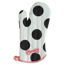 Dancing Dots Oven Mitt with Bow