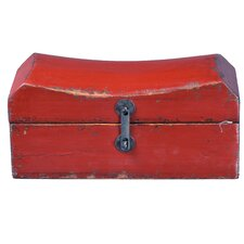 Chinese Pillow Box with Iron Latch