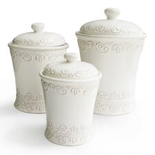 Bianca 3-Piece Scroll Canister Set