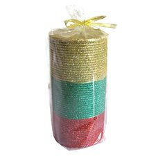 Tri-color Pillar Candle