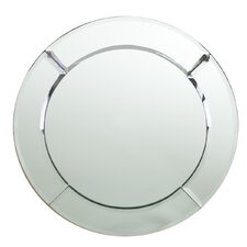 "13"" Mirror Round Charger Plate (Set of 2)"