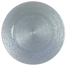 """12.5"""" Circus Glitter Glass Charger Plate"""