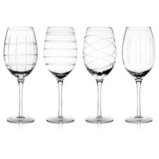 Medallion All-Purpose 15.5 Oz. Wine Glass Set (Set of 4)
