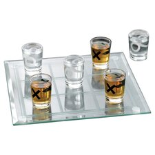 7 Piece Tic Tac Toe Shot Glass Set