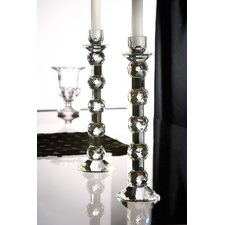 Zermat Ball Crystal Candlesticks (Set of 2)