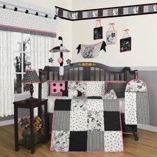 Boutique Flower and Dot 13 Piece Crib Bedding Set