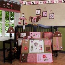 Boutique Ladybug Flower 12 Piece Crib Bedding Set (Set of 12)