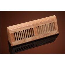 "4.5"" x 15.13"" Red Oak Wood Baseboard Diffuser"