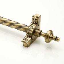 """Grand Dynasty 36"""" Roped Tubular Stair Rod Set with Decorative Brackets Grand Urn Finials"""