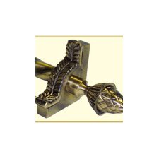 """Grand Dynasty 36"""" Roped Tubular Stair Rod Set with Decorative Brackets Grand Pineapple Finials"""