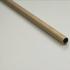 "Heritage 48"" Fluted Tubular Stair Rod Set Regular Brackets Acorn Finial"