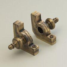 "Sovereign 72"" Tubular Stair Rod Set with Decorative Brackets Urn Finials"
