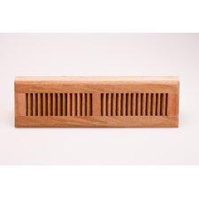 "4.5"" x 18.13"" Brazilian Cherry Wood Baseboard Diffuser"