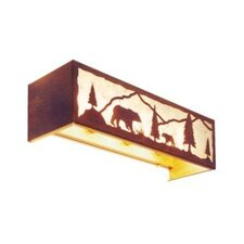 Bear Timber Ridge 4 Light Vanity Light Wall Sconce