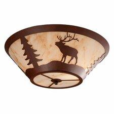 Elk 2 Light Flush Mount