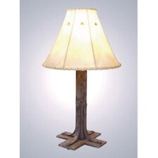 "Lapaz 25"" H Table Lamp with Bell Shade"