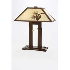 """Mission Double 18"""" H Table Lamp with Empire Shade"""