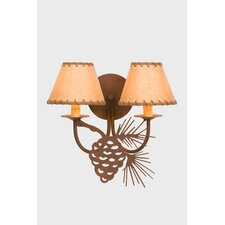 Pinecone Double Light Wall Sconce