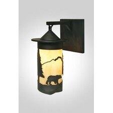 Bear 1 Light Wall Lantern