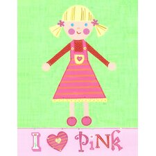 Pink Girl Pinky Canvas Art