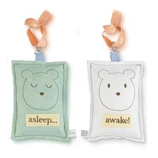 Bear Asleep / Awake Door Hanger