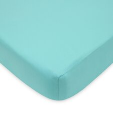 Percale Solid Fitted Crib Sheet