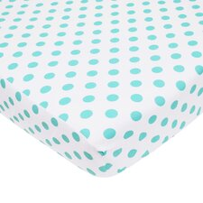 Percale Polka Dot Fitted Crib Sheet