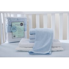 Portable Mini Starter 6 Piece Crib Bedding Set