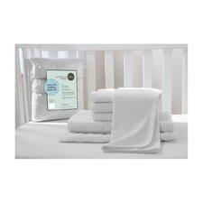 Portable Mini Starter 6 Piece Crib Bedding Set