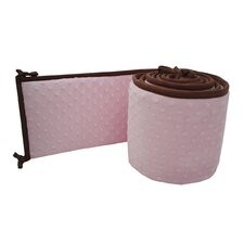 Heavenly Soft Minky Dot Crib Bumper