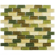 Shimmer Blends Ceramic Mosaic Tile in Foliage
