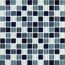 "Shimmer Blends 1"" x 1"" Ceramic Mosaic Tile in Shadow"