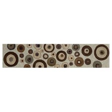 "Aquarelle 18"" x 4"" Ceramic Wall Tile in Circular Listel"