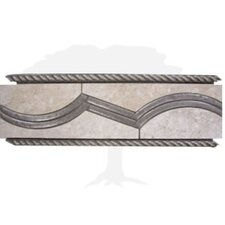 "Montreaux 12"" x 4"" Ceramic Border Tile in Gris/Nickel"