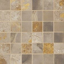 """Jade 2"""" x 2"""" Porcelain Mosaic Tile in Taupe"""