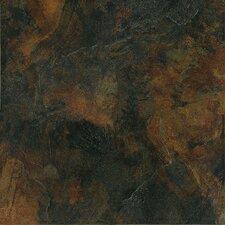 """Imperial Slate 12"""" x 12"""" Ceramic Field Tile in Black"""