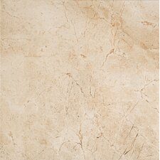 """Timeless Collection 12.94"""" x 12.94"""" Porcelain Field Tile in Marfil Cream"""