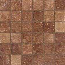 "Walnut Canyon 2"" x 2"" Porcelain Mosaic Tile in Umber"