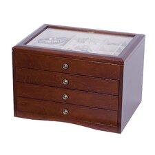 Berkley Glass Top Wooden Jewelry Box