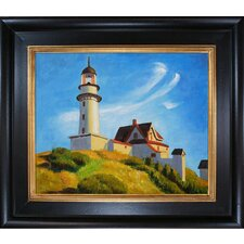 Hopper Lighthouse at Two Lights Canvas Art