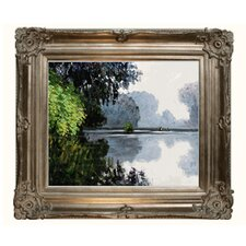 Monet Morning on the Seine Near Giverny Canvas Art