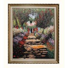 Monet Garden Path at Giverny Canvas Art